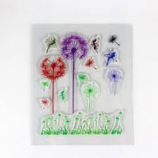 wholesale clear st dandelion butterfly design