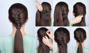 step by step twist hairstyles simple hairstyle ponytail with twist hair yutorial step by step