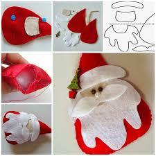 wonderful diy felt santa with free template felt templates and