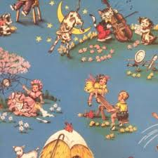 vintage wrapping paper reversible vintage wrapping paper carnival nursery rhyme new