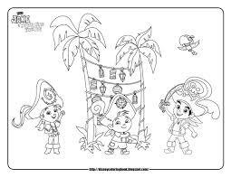 skully jake neverland pirates coloring 23991