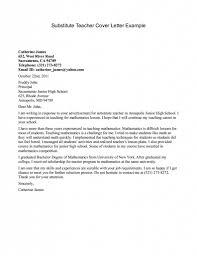 Substitute Teacher Resume Samples Teacher Cover Letter No Experience