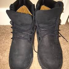 used womens boots size 9 premium black 6in timberlands black timberland boots black