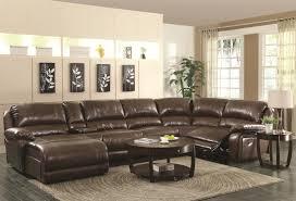 livingroom sectional mackenzie chestnut reclining living room sectional 6pc set for