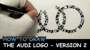 audi logo how to draw the audi logo u2013 2nd version youtube