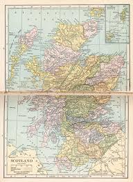 Map Scotland Maps World Map Scotland