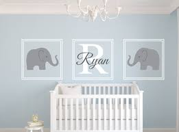 Nursery Wall Decals Canada Elephant Name Wall Decal Set Nursery Wall Decor Home