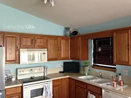 blue kitchen oak cabinets kitchen decoration