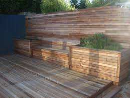 kwila merbau garden or courtyard bench seat u0026 storage box plants