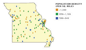 missouri map by population increasing density a small town approach to new urbanism