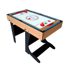 foldable air hockey table riley 4 in 1 game table foldable 12 games air hockey foosball pool