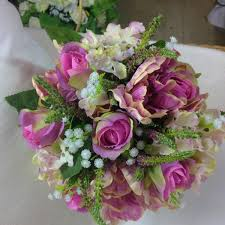 silk wedding bouquet wedding bouquet of artificial silk tulips roses hydrangea