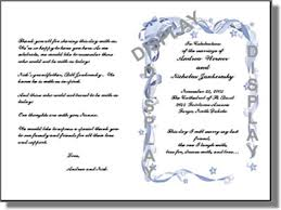 wedding program templates from thinkwedding s print your own