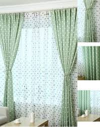 Polka Dot Curtains Nursery Panel Curtains For Blackout In Green Polka Dot Style