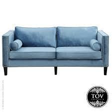 Velvet Sofa Bed Cooper Blue Velvet Sofa By Tov Interiordesignerdecor