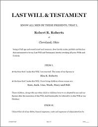 template wills 50 best last will n testament images on will and