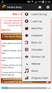 Bench Press Program Chart Perfect Body Building Plan U2013 Android Apps On Google Play