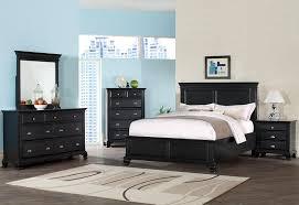 Mirrored Furniture Bedroom Sets Amazon Com Roundhill Furniture Laveno 011 Black Wood Bedroom