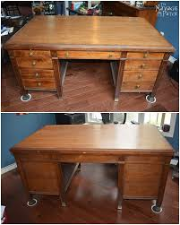 Contact Paper Desk Makeover Vintage Desk Makeover The Navage Patch
