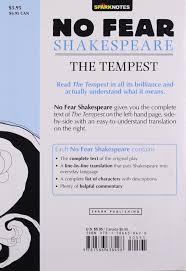 the tempest no fear shakespeare sparknotes 9781586638498 books