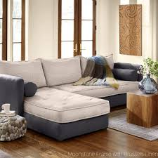 Sleeper Sofa With Chaise Lounge Eco Linen Sectional Sleeper Sofa With Chaise Lounge Vivaterra