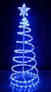 vickysun animated 153cm led white blue spiral tree