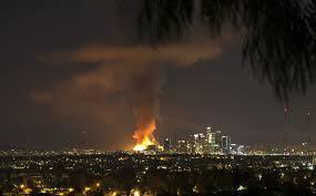 massive da vinci fire in downtown l a was arson investigators