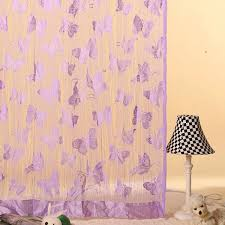 Purple Butterfly Curtains New Hot Butterfly Fringe String Curtain Panel Window Room Divider