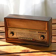 antique imitation radio model resin nostalgia fm ornaments craft