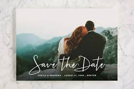 save the date in stylish script save the date cards by hooray creative minted