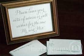 wedding wishes and advice cards leave a note of advice well wishes sign thin style