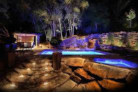 lighting around pool deck 5 landscape lighting ideas for your swimming pool