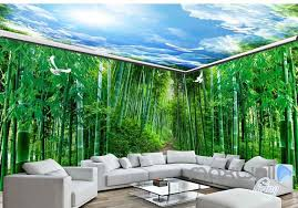 wallpaper for entire wall 3d huge bamboo forest blue sky entire room wallpaper wall murals art