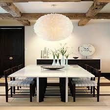 oversized gray dining table design ideas