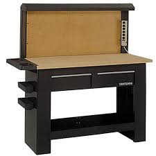 workbench with pegboard and light craftsman 59018 workbench backwall sears outlet
