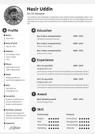 Free Resume Printable Templates Resume With Picture Template 20 Creative Free Printable Templates