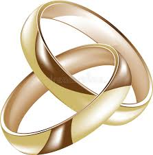 intertwined wedding rings intertwined gold wedding rings stock illustration illustration