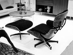 eames lounge chair and ottoman in fabric vitra image eames