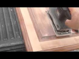 refinishing kitchen cabinet doors how to refinish kitchen cabinet doors diy refinishing youtube