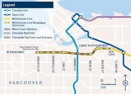 vancouver skytrain map province promises 2 2 billion toward metro vancouver transit plan