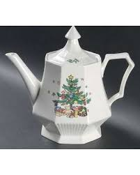spectacular deal on nikko christmastime teapot lid china