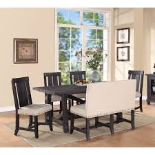 modus yosemite 6 piece rectangular dining table set with wood modus yosemite 6 piece rectangular dining table set with wood chairs and settee hayneedle