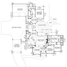 mediterranean style house plan 4 beds 3 50 baths 2855 sq ft plan