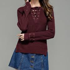 maroon sweaters white watermelon burgundy brown green sleeve lace up