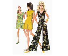 60s jumpsuit 90 s dress and jumpsuit pattern mccall s 7010 high waisted