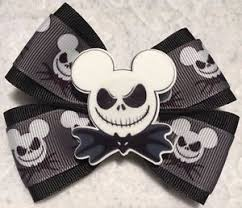 skellington ribbon hair bow 4 wide skellington ribbon black bat bow tie