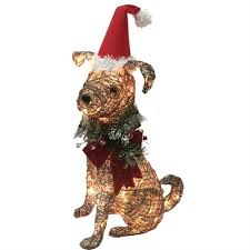 Lowe S Canada Outdoor Christmas Decorations by Holiday Living 24 In Lighted Dog Outdoor Christmas Decoration