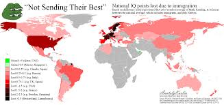 World Map Japan by Not Sending Their Best U201d World Map Of Iq Drop Due To Immigration