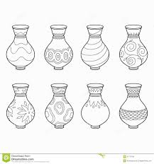 flower pot coloring page stock illustrations u2013 122 flower pot