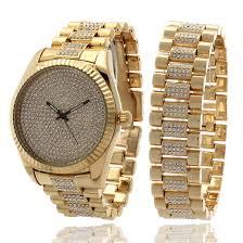gold bracelet rolex images 14k gold watch and rolex bracelet bling set hip hop watches jpeg